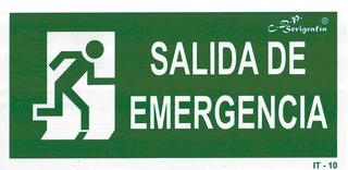 Cartel Salida De Emergencia 30x15cm (687251) Herracor