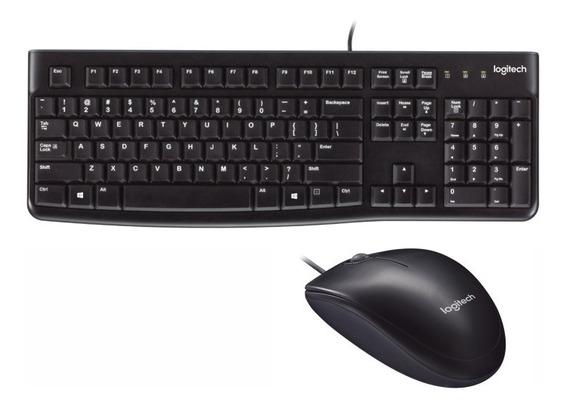 Combo Logitech Teclado Usb K120 Y Mouse Óptico Us Zonatecno
