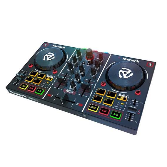 Controlador Dj Numark Party Mix Mixer Controladora Placa Luz