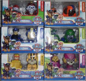 Patrulla Canina 6 Muñecos Con Autitos+ 6 Muñecos Grandes
