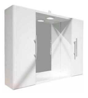 Botiquín De Baño 60x50cm Con Espejo Porta Lamparas Incluido