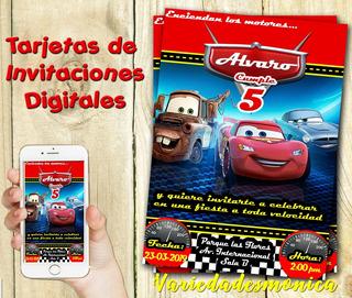 Tarjetas De Invitacion Cars En Mercado Libre Uruguay