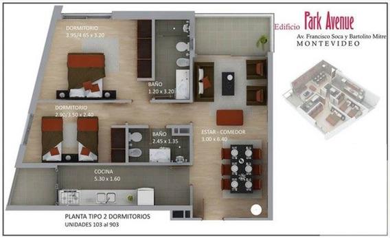 Apartamento Dos Dormitorios, Dos Baños, Garage, Muy Luminoso