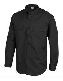 Camisa Ejecutiva Trabajo Hombre Negra Manga Larga
