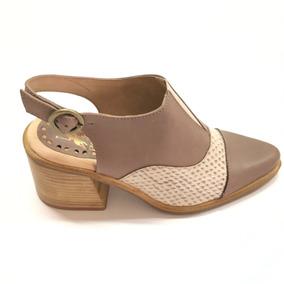 Calzado Zapato Con Taco Polo De Dama Snake/arena Del 35/40