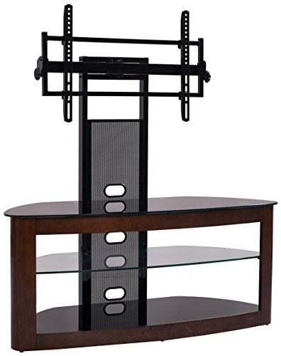 Transdeco Tv Stand With Mount For 35 65 Tv Dark