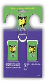 Insecticida Raid Percha Anti Polillas Continuo 2u