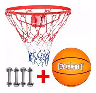 Aro De Basketball Profesional + Pelota + Red Basket - El Rey