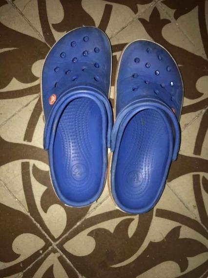Crocs Celestes Usadas