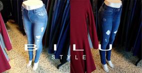 Jeans Elastizados C/roturas $ 790