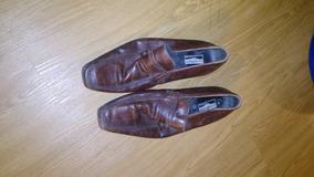 Zapatos De Cuero En Punta Estilo Italiano.400$regalo...