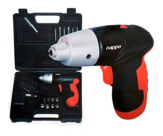 Destornillador Inalámbrico Nappo Kit 44 Accesorios Con Luz