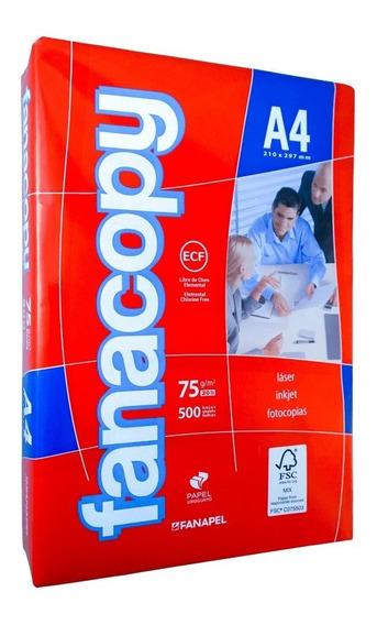 Hojas Para Impresora Fanacopy. Formato A4. Paquete 500 Hojas