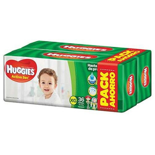 Huggies Active Sec Xg X 72
