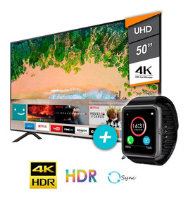Tv Samsung Smart Led 50 Uhd 4k Gtia Oficial + Smartwatch