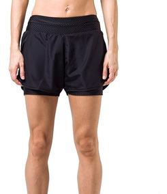 Short Con Calza Fila Belt Elástico Running Training De Dama