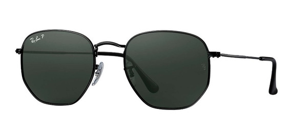 Lentes Ray-ban Rb 3548 Hexagonal Negro,negro Stock