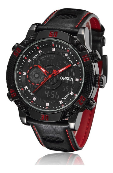 Reloj Digital Ohsen 1609-b Red - Original