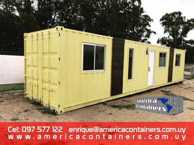 Casa Contenedor 40 Pies - 1 Dormitorio, Baño Y Cocina
