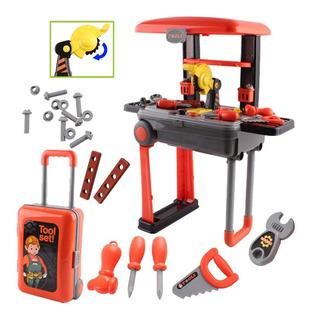 Set De Herramientas Para Niños Taller Mecanico - Valija