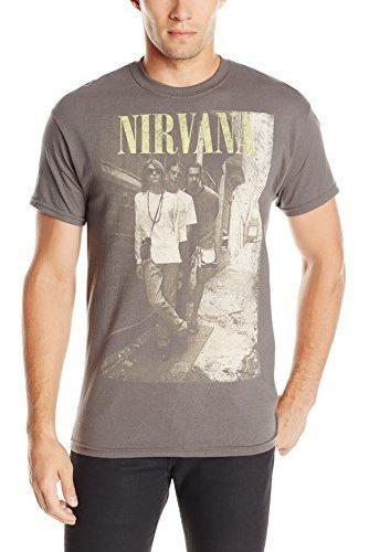 Fea Nirvana Brick Wall Band Camiseta Para Hombre
