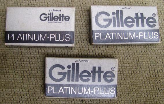 3 Paquetes Hojas Afeitar Gillette Contienen 3 Hojas C/u