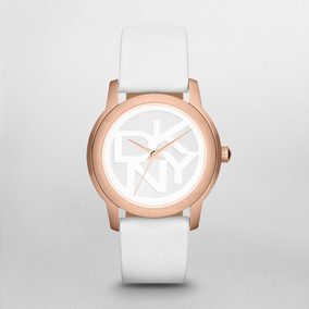 Reloj Dkny Leather White Park Avenue