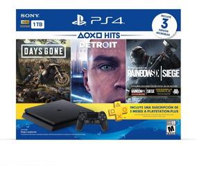 Playstation 4 Ps4 Hw 1 Tb Hits 5 Bndl - Dg, Detroit, R6s