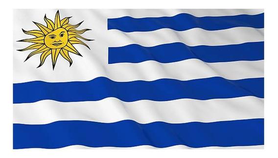 Bandera De Uruguay Selección Mundial 1,60 X 90 Mts