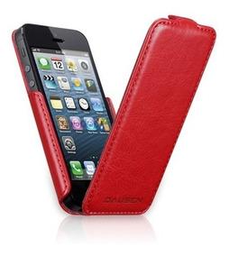 8fd7125aad8 Funda Para iPhone 5/5s Flip Case Roja Dausen
