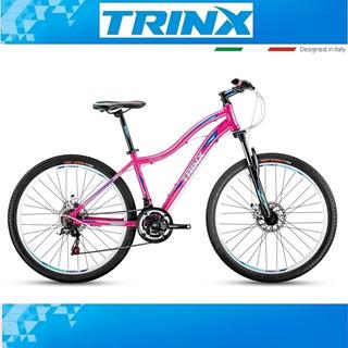 Bicicleta Trinx 26 Dama N 106 Aluminio Disco Shimano Susp.