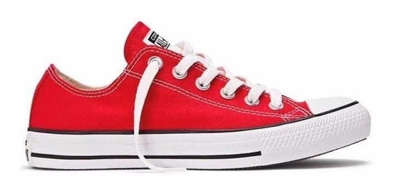 zapatos converse all star rojos