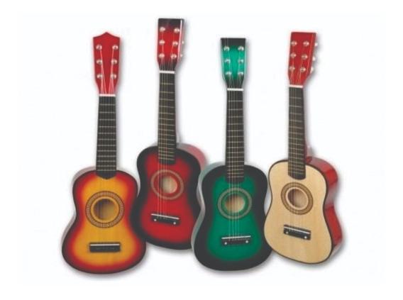 Guitarra Madera Para Niños 25¨ Tamaño Ideal Real En Caja