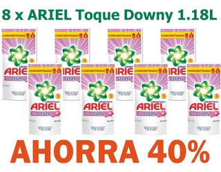 Jabón Lavar Ropa Ariel Tod 1,2l X 8 = Superpack Ahorro 40%