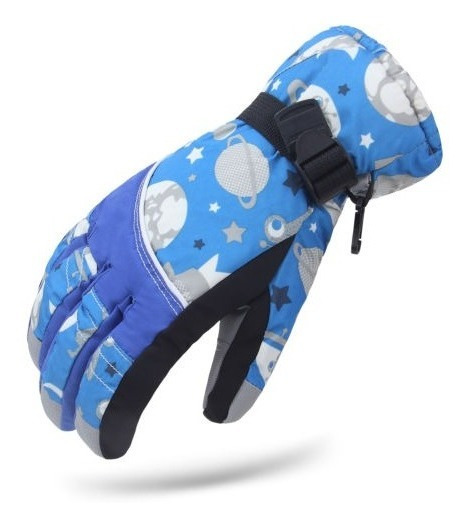 Mujeres Azules Impermeables Invierno Cálido Snow Ski Patinaj