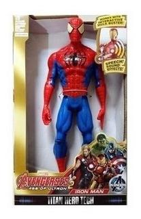 Avengers Muñecos Con Luz Y Sonido En Caja 30 Cm