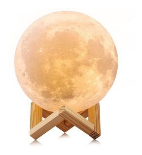 Lámpara Luna 3d Moon Lamp 18 Cms