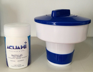Set De Boya Para Piscina + 1kg Pastillas Triple Accion