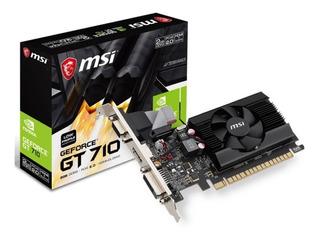 Tarjeta Video 1gb Msi Geforce Gt 710 Ddr3