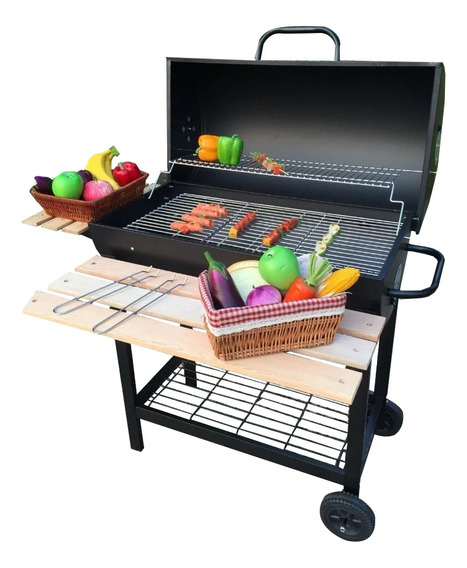 Parrilla Parrillero Barbacoa Carbon Movible Exterior Hts
