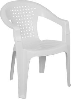 Silla De Plástico C /apoya Brazos Blanca 120kg Regatones