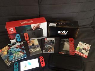 Nintendo Switch + 12 Juegos + Accesorios Inmaculada
