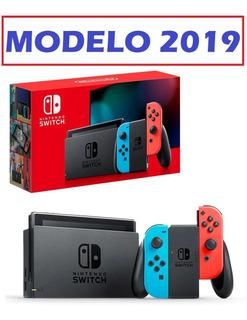 Nintendo Switch Neon Modelo Nuevo 2019 Con Vidrio Templado