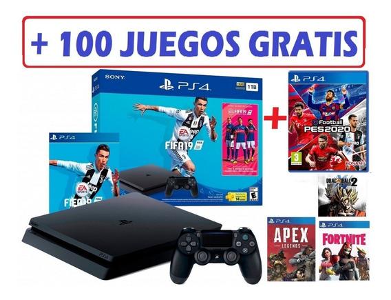 Play 4 1 Tb Pack Pes 2020 + Fifa 19 +muchos Juegos De Regalo