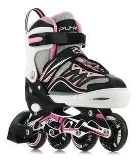 Patines Roller 4 Ruedas Con Luces Push 058.p18178000