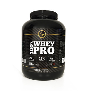 Proteina 100% Whey Pro 5lb Chocolate Gold Nutrition