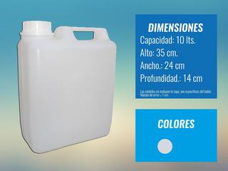 Bidones De Plástico 10 Lts, Recipientes, Envases, Nafta