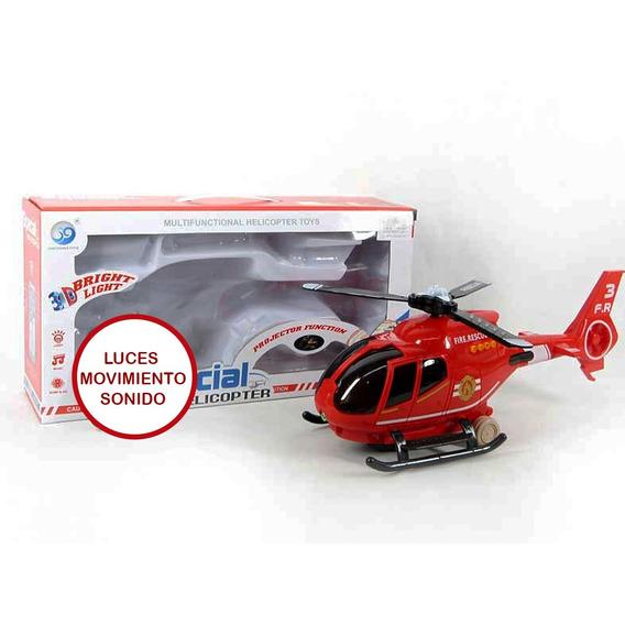 Helicóptero Juguete Didáctico Luces Sonido