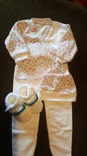 Conjuntos De Batita, Pelele Y Gorra Para Bebé