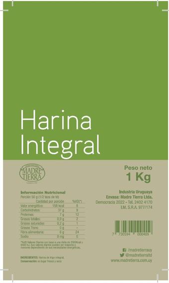 Harina Integral 1 Kg - Madre Tierra